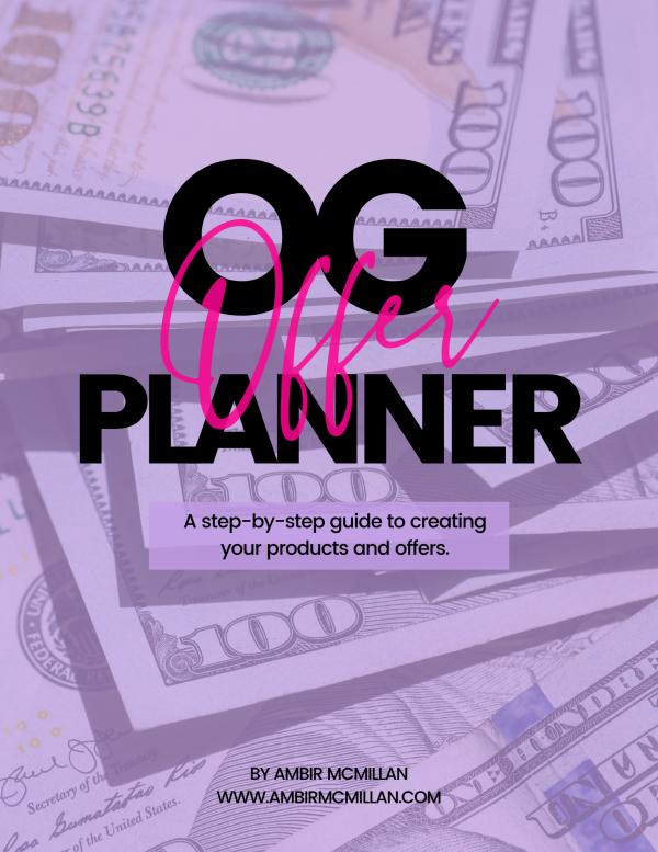 OG Offer Planner