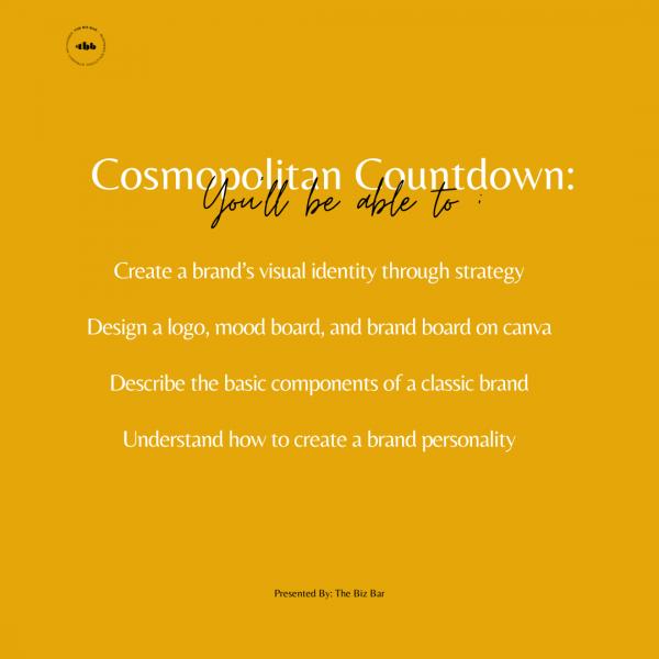 Cosmopolitan Countdown: How to Create a Classic Brand